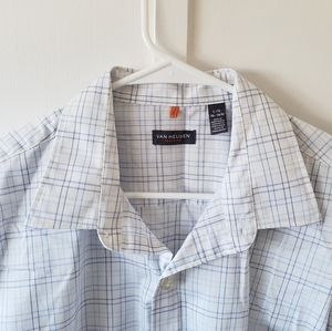 Van Heusen Traveler Collared Shirt L 16-16.5